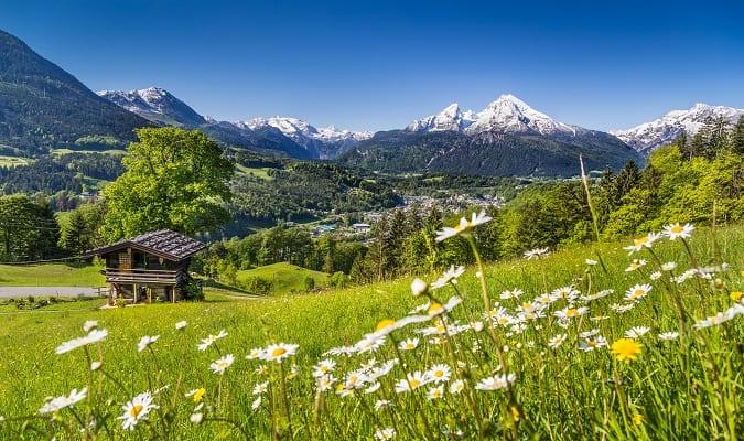 Alpes da Baviera no Verão