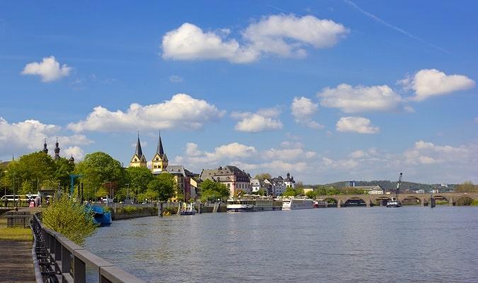 Rio Reno em Koblenz